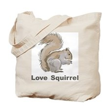 Love Squirrel Tote Bag