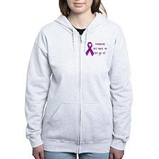 Alzheimers Awareness Zip Hoodie