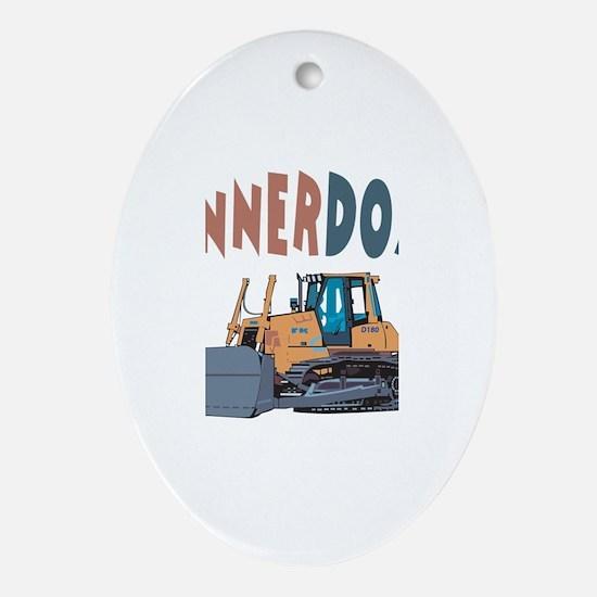 Connerdozer the Bulldozer Oval Ornament