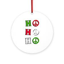 """Christmas Peace """"ho ho ho"""" - Ornament (R"""
