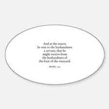 MARK 12:2 Oval Decal