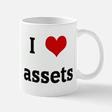 I Love assets Small Small Mug