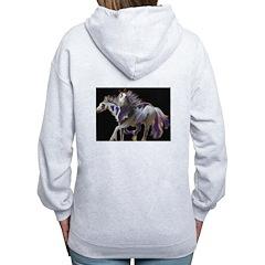 Paint Horses Zip Hoodie