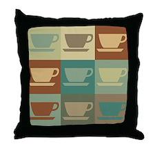 Coffee Pop Art Throw Pillow