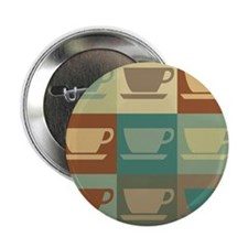 "Coffee Pop Art 2.25"" Button"
