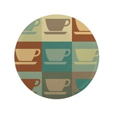 """Coffee Pop Art 3.5"""" Button (100 pack)"""