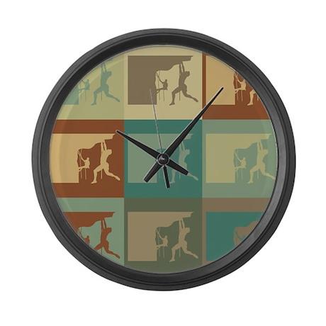 Climbing Pop Art Large Wall Clock