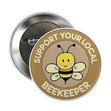 "Local Beekeeper 2.25"" Button"