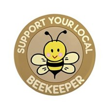 "Local Beekeeper 3.5"" Button"
