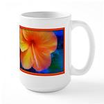 orange hibiscus Large Mug