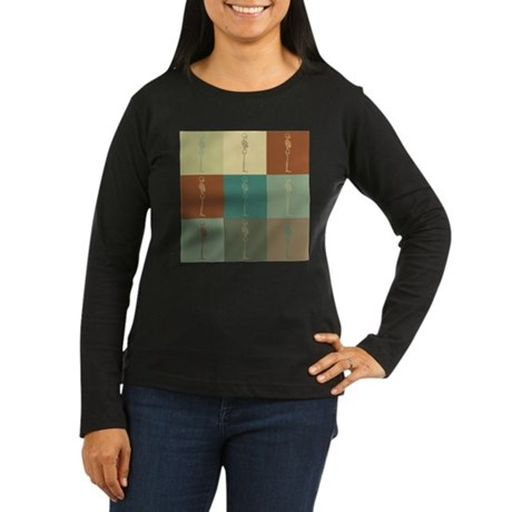 Chiropractic Pop Art Women's Long Sleeve Dark T-Sh