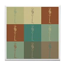 Chiropractic Pop Art Tile Coaster