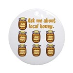 Local Honey Ornament (Round)