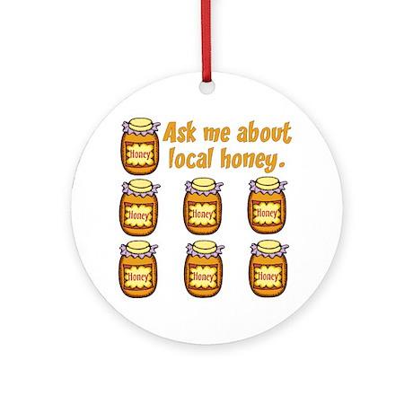 Local Honey Ornament (Round)