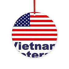 Vietnam Veteran Ornament (Round)