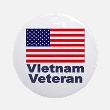 Vietnam Veteran Ornament (Round)