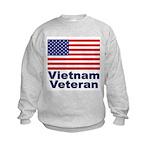 Vietnam Veteran (Front) Kids Sweatshirt