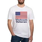 Vietnam Veteran (Front) Fitted T-Shirt