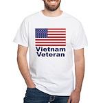 Vietnam Veteran (Front) White T-Shirt