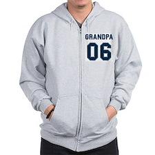 Blue Grandpa 06 Zip Hoodie