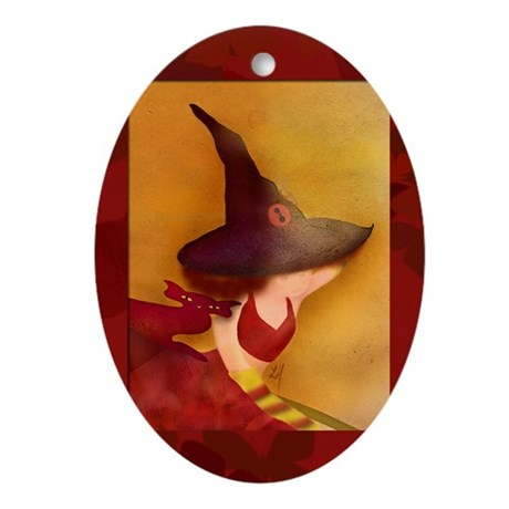 """""""Witch and more..."""" Oval Ornament"""