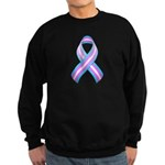 Trans Pride Ribbon Sweatshirt (dark)