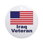 Iraq Veteran Ornament (Round)