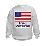 Iraq Veteran (Front) Kids Sweatshirt