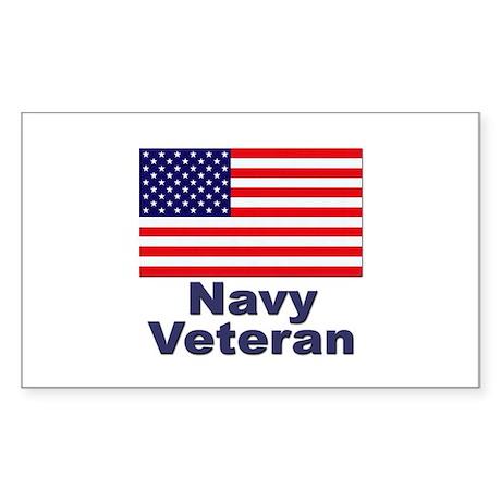 Navy Veteran Rectangle Sticker