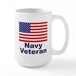 Navy Veteran Large Mug