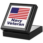 Navy Veteran Keepsake Box