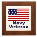 Navy Veteran Framed Tile