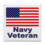 Navy Veteran Tile Coaster