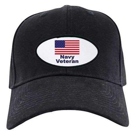 Navy Veteran Black Cap