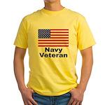 Navy Veteran Yellow T-Shirt