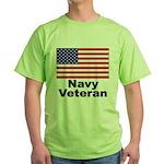 Navy Veteran Green T-Shirt