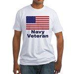 Navy Veteran (Front) Fitted T-Shirt