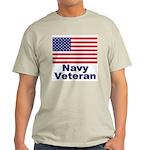 Navy Veteran Ash Grey T-Shirt