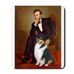 Lincoln / Collie (tri) Mousepad