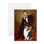 Lincoln / Collie (tri) Greeting Cards (Pk of 20)