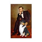 Lincoln / Collie (tri) Rectangle Sticker 10 pk)