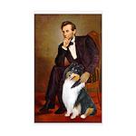 Lincoln / Collie (tri) Rectangle Sticker