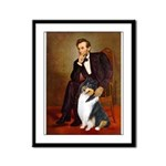 Lincoln / Collie (tri) Framed Panel Print