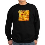 Fiery Maya Jaguar Head Sweatshirt (dark)