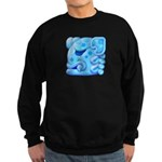 Icy Maya Jaguar Head Sweatshirt (dark)