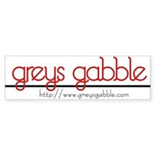 Grey's Gabble Bumper Bumper Sticker