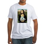 Mona Lisa/Poodle (white/toy) Fitted T-Shirt