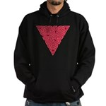 Pink Triangle Knot Hoodie (dark)