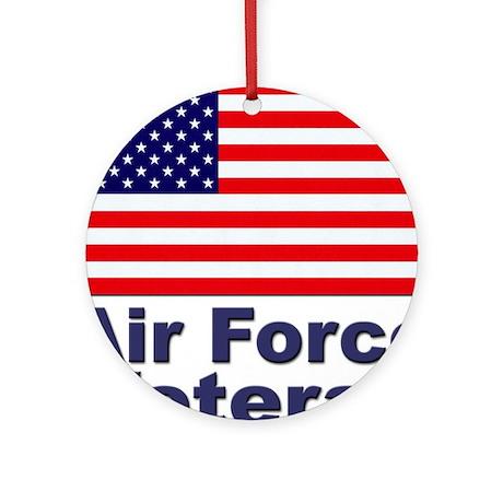 Air Force Veteran Ornament (Round)