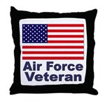 Air Force Veteran Throw Pillow